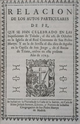 38 autos-da-fé relaciones published in Madrid, between 1721 and 1725: Documentation of the last mass anti-Jewish and Converso actions of the Inquisition with 897 of the 1043 named individuals accused of various forms of Jewish practice. n/a.