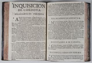 38 autos-da-fé relaciones published in Madrid, between 1721 and 1725: Documentation of the last mass anti-Jewish and Converso actions of the Inquisition with 897 of the 1043 named individuals accused of various forms of Jewish practice.
