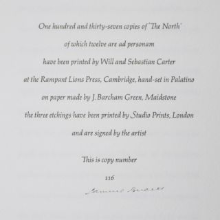 The North [SIGNED BY BOTH THE AUTHOR AND THE ARTIST]
