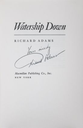 Watership Down [SIGNED]. Richard Adams.