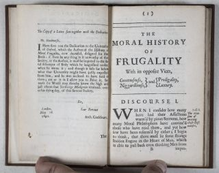 The Moral History of Frugality with its opposite Vices, Covetousness, Niggardliness, and Prodigality, Luxury