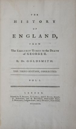 The History of England, From The Earliest Times to the Death of George II (complete in 4 vols.)....
