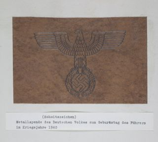 Metal Donation by the German People on the Occasion of the Führer's Birthday in the War Year 1940