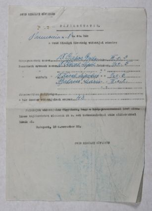 Hungarian Holocaust: Documents of a Swedish Safe House in the International Ghetto of Budapest in...