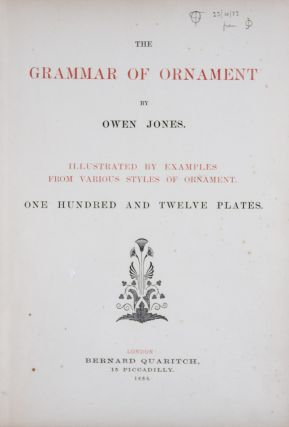 The Grammar of Ornament. Owen Jones.