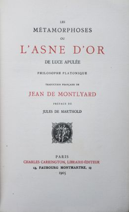 Les Métamorphoses ou l'Asne d'Or [21 ETCHINGS BY MARTIN VAN MAELE, AND EXTRA-ILLUSTRATED WITH 7 COLOR PLATES BY ALEXANDER ROTHAUG, A WIENER WERKSTATTE ARTIST]