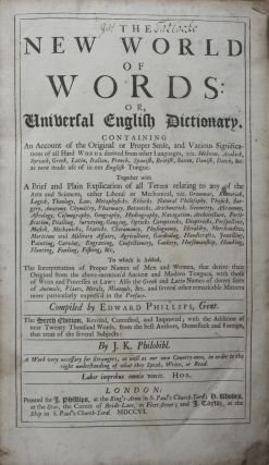 The New World of Words: or, Universal English Dictionary