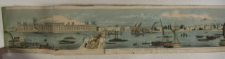 Grand Panorama of London and the River Thames. 18 Feet in Length [HAND-COLORED]