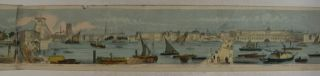 Grand Panorama of London and the River Thames. 18 Feet in Length [HAND-COLORED- Old Color = contemporary]