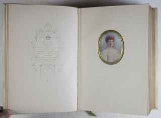 Miniatures: A Series of Reproductions in Colour and Photogravure of Ninety-Eight Miniatures of Distinguished Personages Including Queen Mary, Queen Alexandra, the Queen of Norway, Princess Mary, the Princess Royal, the Princess Victoria [SIGNED]