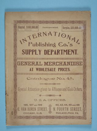 General Merchandise at Wholesale Prices: Catalogue No. 45. n/a