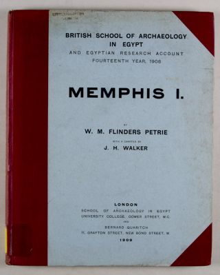 British School of Archaeology in Egypt and Egyptian Research Account : Memphis Series, complete...