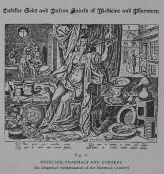 Pictorial History of Ancient Pharmacy with Sketches of Early Medical Practice [INSCRIBED]