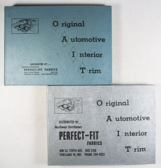 Original Automotive Interior Trim Perfect-Fit Fabrics 1961–1972. 12 Vols. n/a