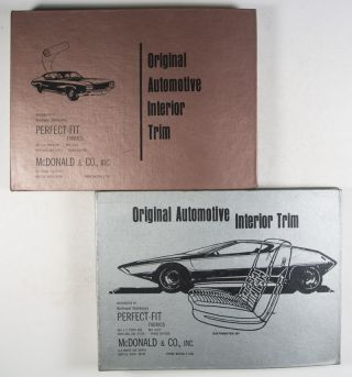 Original Automotive Interior Trim Perfect-Fit Fabrics 1961–1972. 12 Vols.