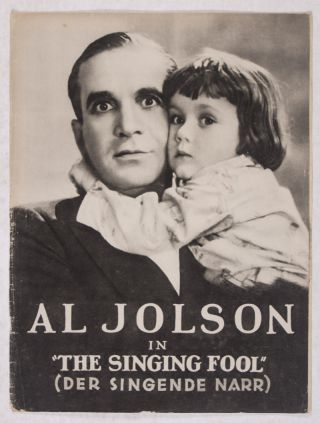 """The Singing Fool"" (Der Singende Narr) [Illustrierter Film-Kurier]. Lloyd Bacon, director"