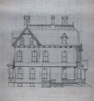 16 Architectural Plans and Drawings for the House of L. J. Pratt by the Architect George F....