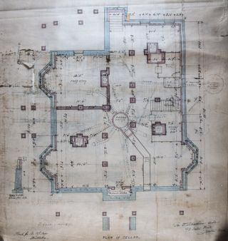 16 Architectural Plans and Drawings for the House of L. J. Pratt by the Architect George F. Meacham [WITH] Original 32 Page Manuscript with Specifications of the Contract