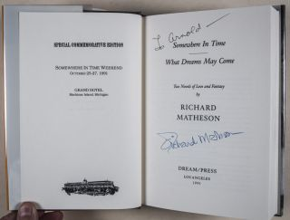 Somewhere in Time/ What Dreams May Come [SPECIAL COMMEMORATIVE EDITION, SIGNED & INSCRIBED]