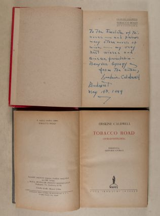 Tobacco Road (Dohányföldek) [INSCRIBED] (Two copies of the First Hungarian edition in varient bindings.)