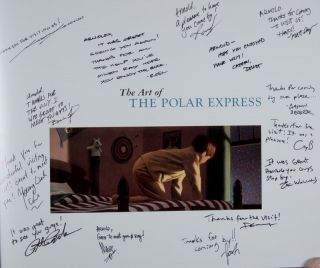The Art of the Polar Express [INSCRIBED AND SIGNED 14 TIMES]. Mark Cotta Vaz, Steve Starkey