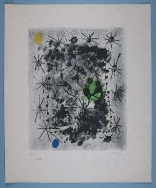 Constellations [SIGNED BY JOAN MIRÓ AND ANDRÉ BRETON] [COMPLETE WITH ITS ORIGINAL SIGNED LITHOGRAPH AND 22 POCHOIR PLATES]