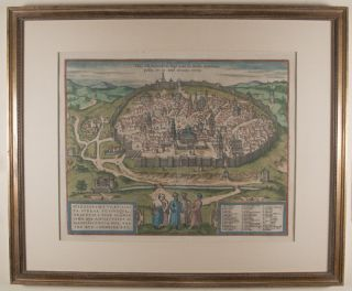 Hierosolyma Urbs Sancta, Iudeae, Totiusque Orientis Longe Clarissima, Qua Amplitudine ac Magnificentia hoc Nostro Aevo Conspicua Est. [Map of Jerusalem: Holy City of Jerusalem, by far the most famous city of Judah and the entire Orient which in its dimensions and magnificence is conspicuous in this age of ours]
