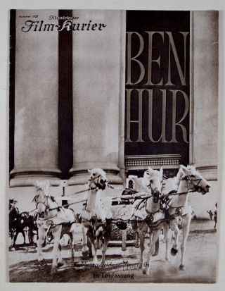 Ben-Hur (Illustrierter Film-Kurier, No. 1721). Fred Niblo, director