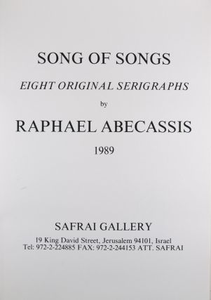 Song of Songs: Eight Original Serigraphs [SIGNED]