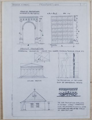 Basics of Architectural Design / A Collection of Three Manuscripts and Original Drawings