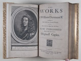 The Works of Sr William D'avenant Kt [SIGNED BY THE AUTHOR / EUGENE FIELD'S COPY]. William Davenant