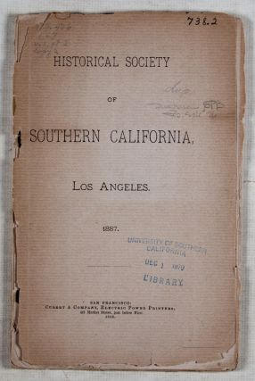 Historical Society of Southern California, Los Angeles 1887