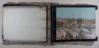 Unique Presentation Photo Album from Hugh S. Davis to Waite Phillips*. Based on an adventurous journey to Africa with Martin and Osa Johnson** [WITH CREATIVE PHOTO-MONTAGE AND COLORED PRINTS AFTER ORIGINAL PHOTOGRAPHS BY HUGH S. DAVIS]