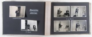 """Photo-Album Documenting the 25th Anniversary Conference of the """"Magische Zirkel"""" 1937 in Berlin [Original Photographs and SIGNED CERTIFICATE]"""