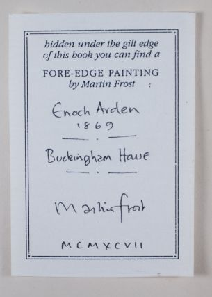 Enoch Arden [WITH A STRIKING FORE-EDGE PAINTING BY MARTIN FROST] [SIGNED BY THE ARTIST]