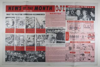 """""""News of the Month, June-July, 1946"""" [WITH """"THE PRAYING JEW"""" (THE RABBI OF VITEBSK) BY MARC CHAGALL ON THE VERSO]"""