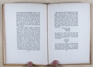 The Elopement of Percy Bysshe Shelley and Mary Wollstonecraft Godwin [INSCRIBED WITH ORIGINAL SIGNED LETTER]