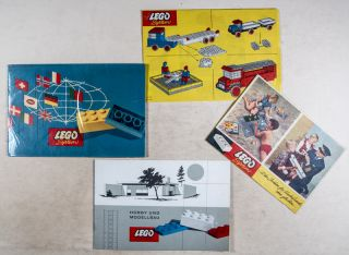 Collection of 5 LEGO SYSTEM Promotion Pamphlets, Brochures, and Instructional Guides [GERMAN]. n/a