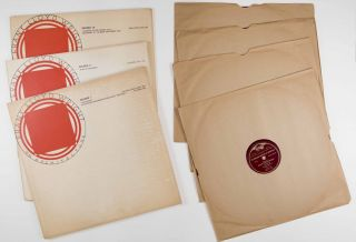 """Collection of Audio Recordings of Frank Lloyd Wright. """"Frank Lloyd Wright on Architecture"""", Three LP Set (1952) [WITH] """"Address of Frank Lloyd Wright in Accepting the Gold Medal of the A.I.A. (1949) (On Red Vinyl) [7 VINYL RECORDS IN TOTAL]"""