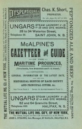 McAlpine's Gazetteer and Guide for the Maritime Provinces, Nova Scotia, New Brunswick, & Prince...
