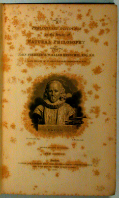 Preliminary Discourse on the Study of Natural Philosophy. John Frederick William Herschel.